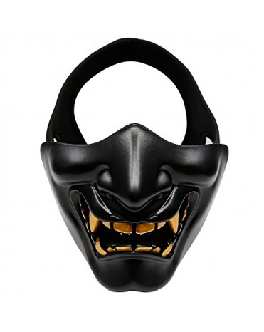 AegisTac Devil Evil Smile Tactical Airsoft Paintball BB Balls Protective Half Face Mask For CS Games Festival Cosplay Costume Party