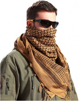 Military Shemagh Neck Scarf Desert Tactical Style Head Wrap Keffiyeh Checkered Scarf