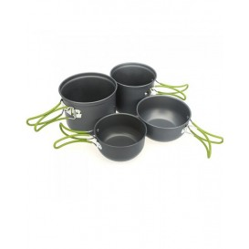 Outdoor Camping Hiking Cooking Set Cookware Non-stick Pots Pans Bowls