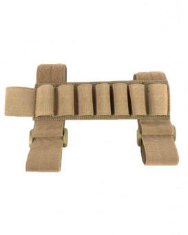 Shotgun Shell Reload Buttcuff Stock Ammo Carrier Hunting Strip 1000D 7 Round