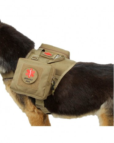 Tactical Dog Training Vest Molle Compact Vest Harness Nylon Pet Vest