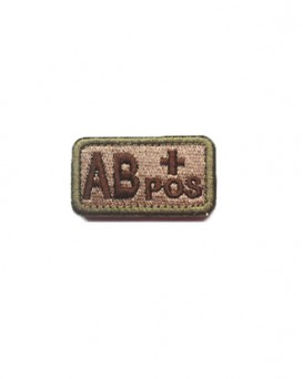A/B/O/AB+ Blood Type Patch Morale Velcro Patch Medical Treatment Military Badges Tactical Patches for Cap Jacket